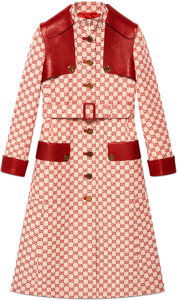 GUCCI GG Canvas Trench Coat