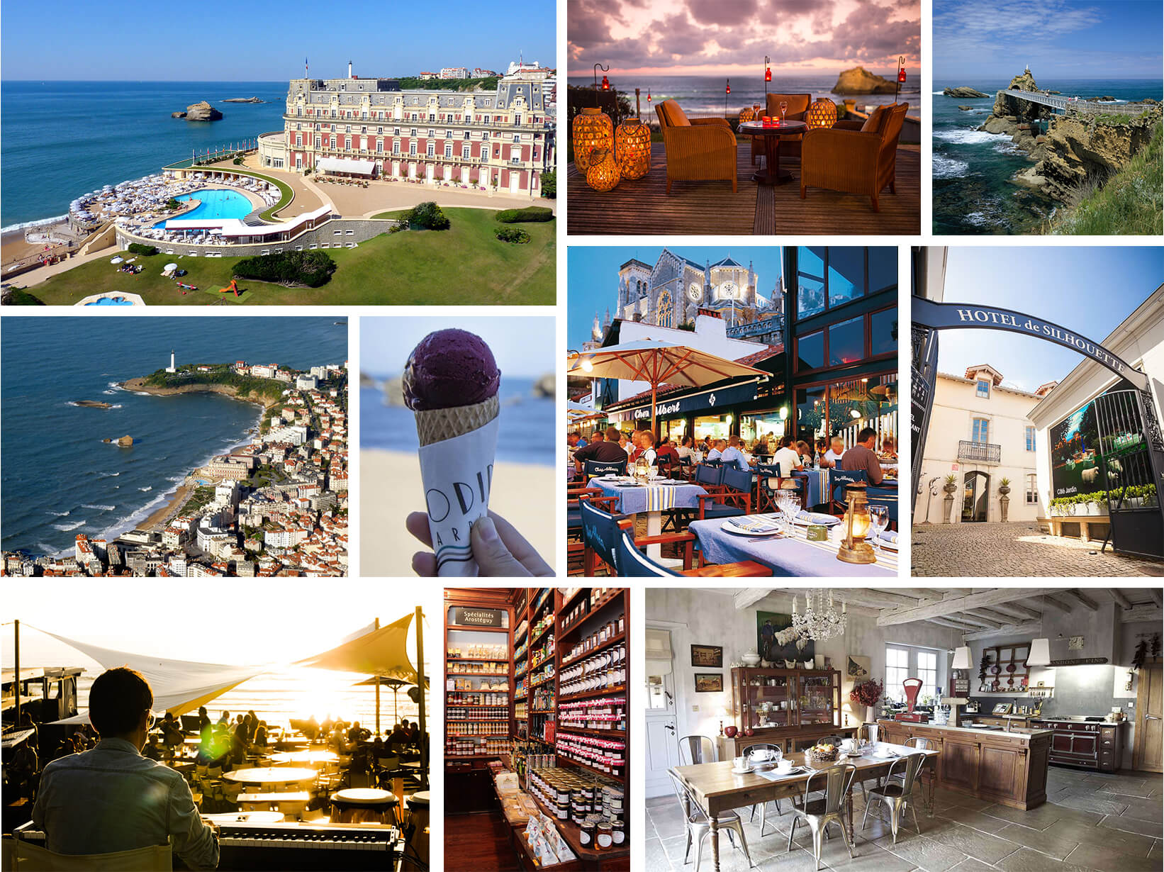 collage of Biarritz, France