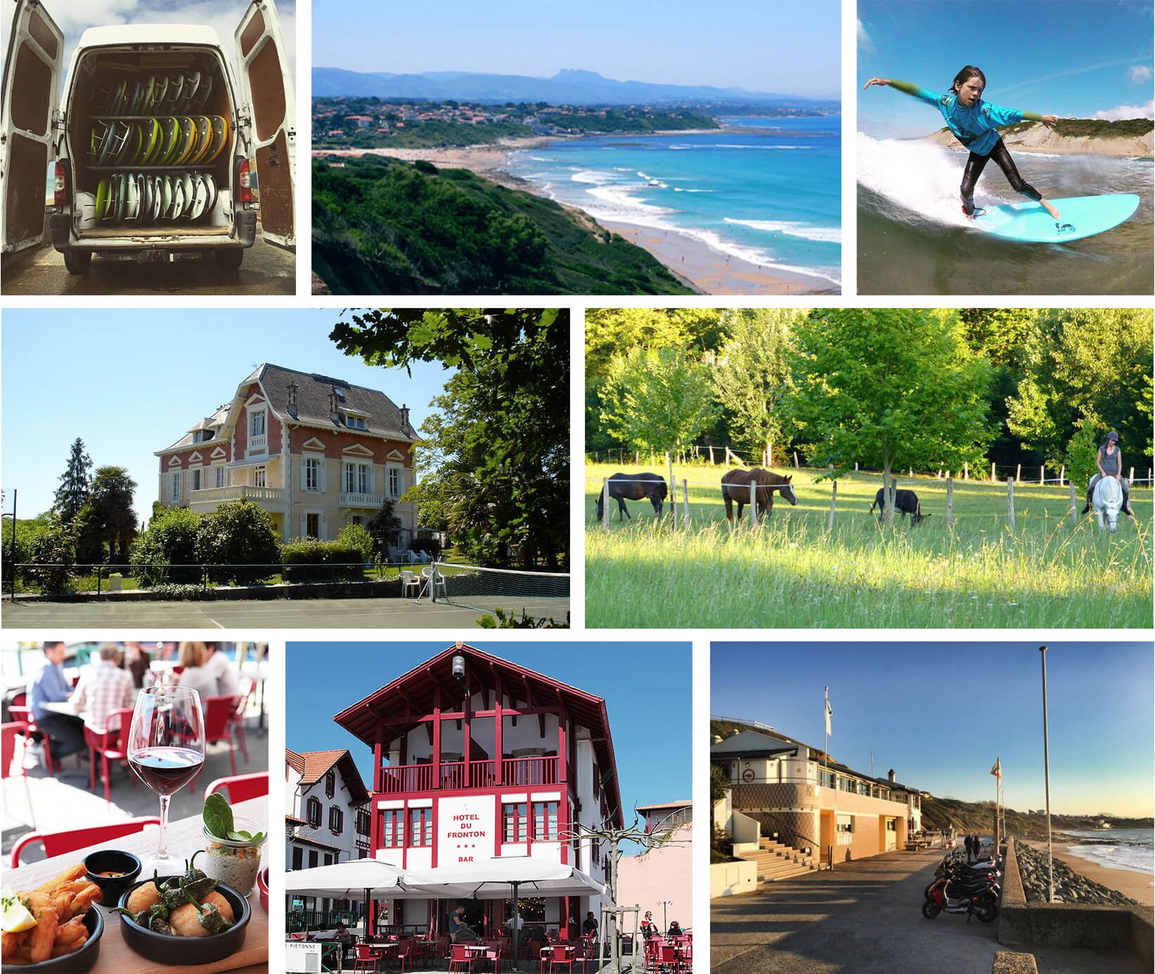 collage of Bidart, France