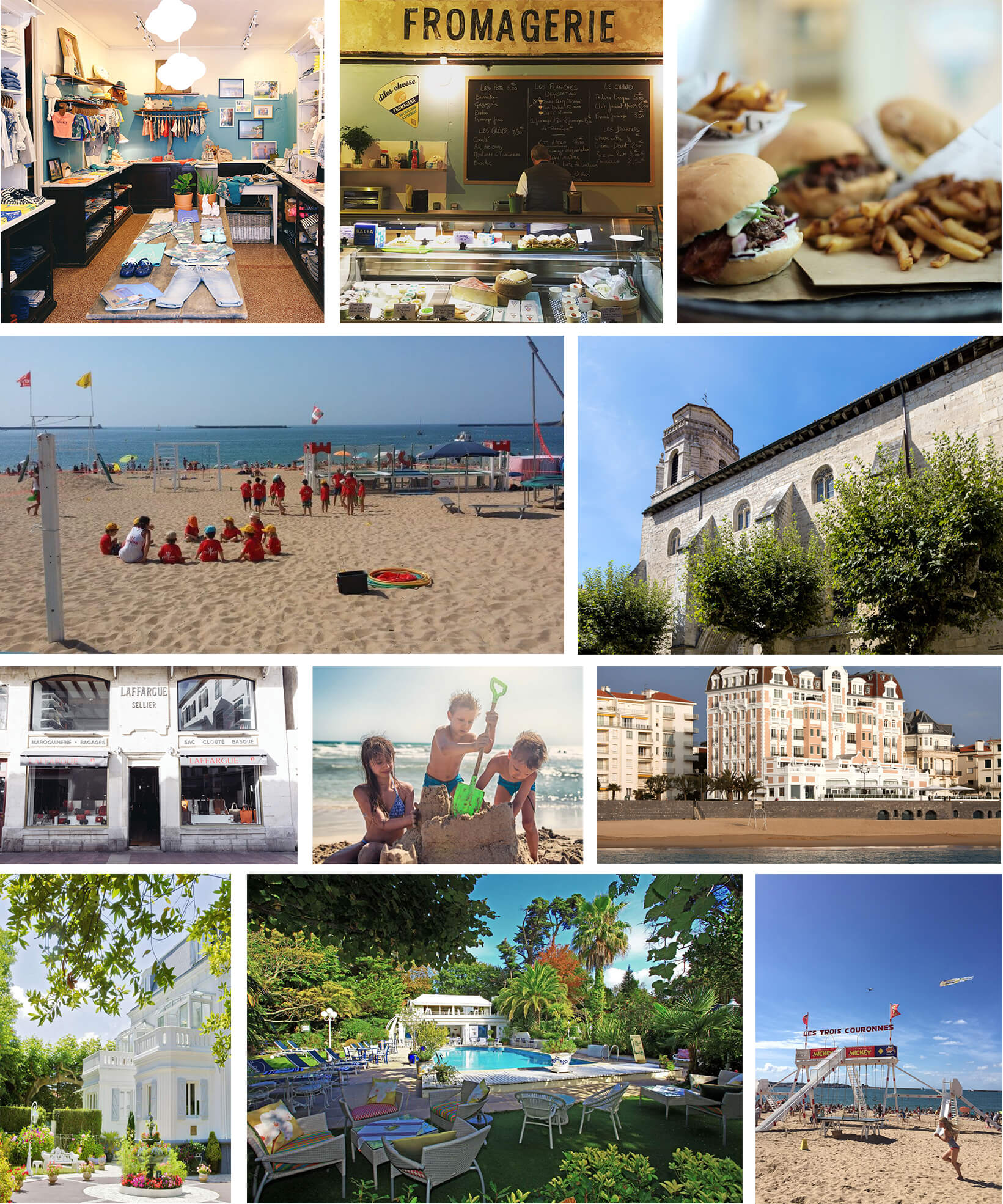 collage of Saint Jean de Luz, France
