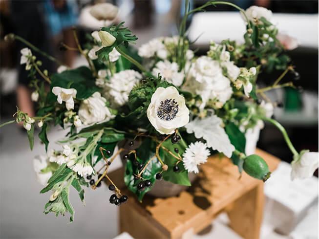 Seasonal white flower bouquet