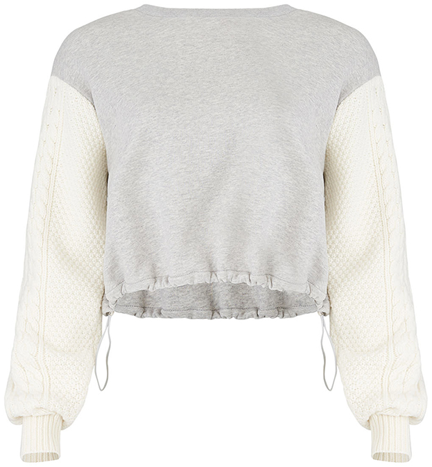 3.1 PHILLIP LIM White/Grey Sweatshirt
