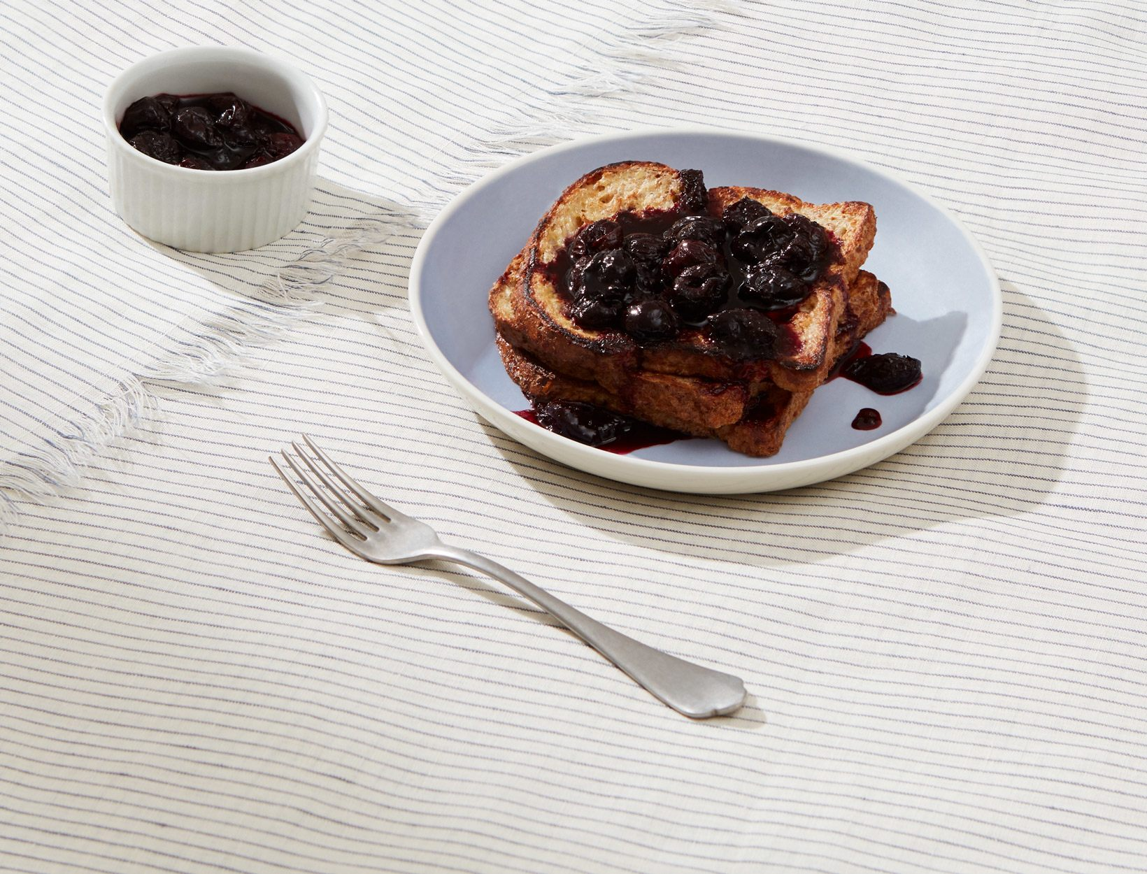 Gluten-Free French Toast with Cherry Cardamom Compote