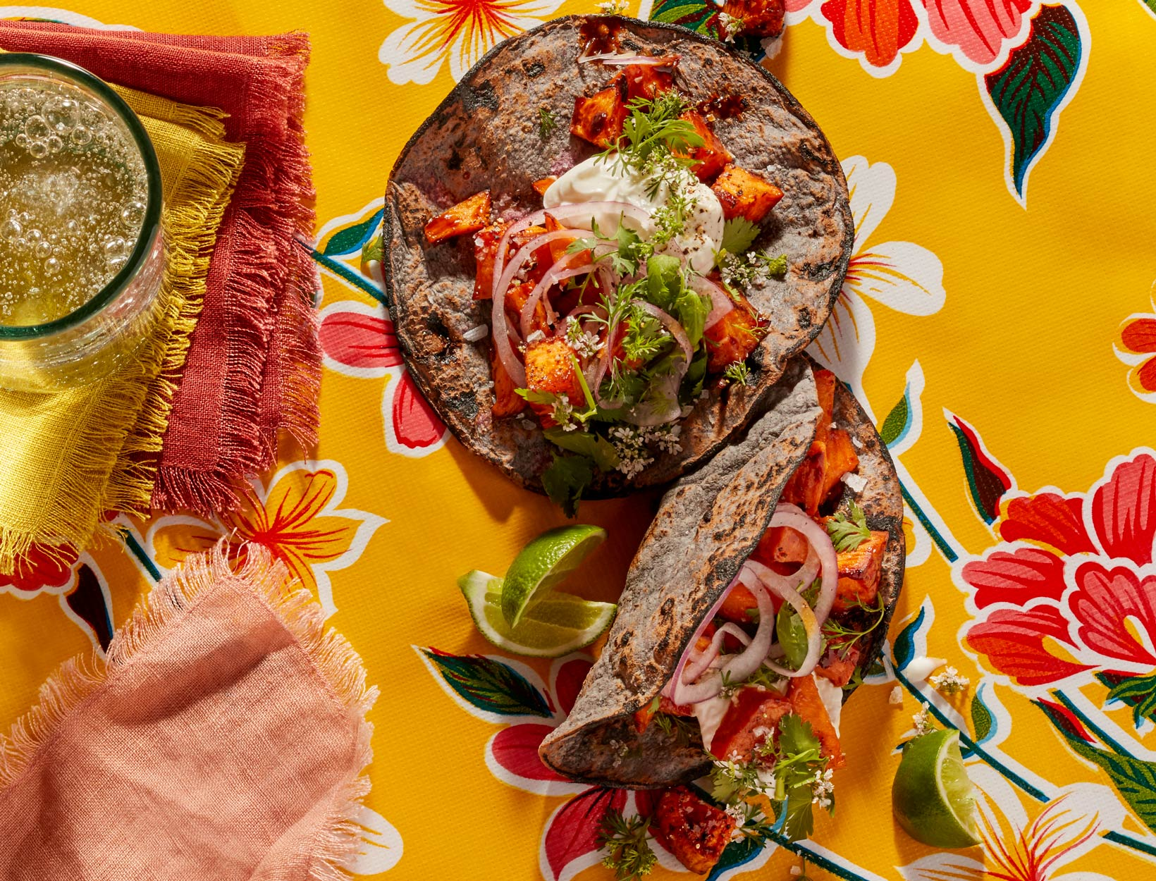 Sweet Potato Taco With Salsa Negra Recipe Goop