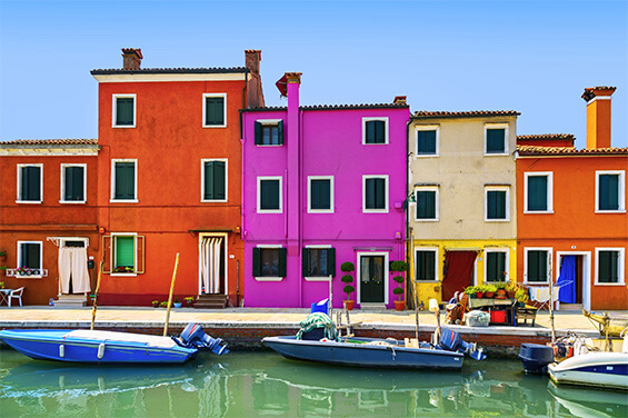 COLORFUL BUILDINGS FROM THE WATER