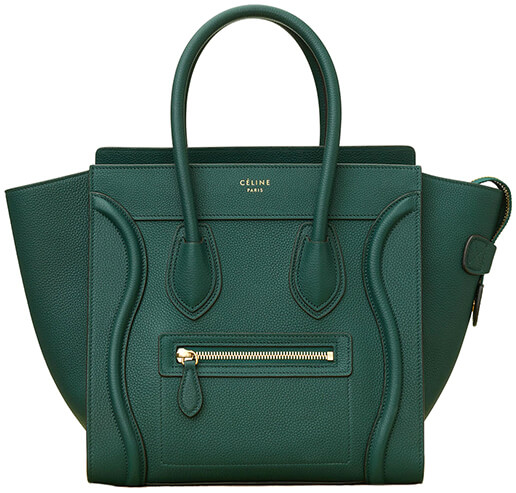 CÉLINE Green Luggage Handbag
