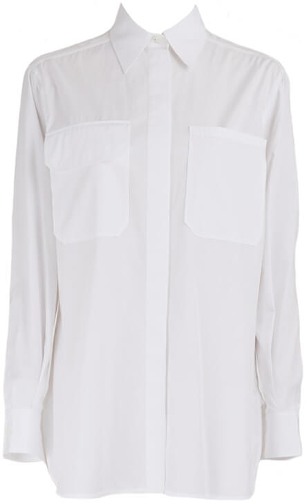 CÉLINE White SHIRT DRESS