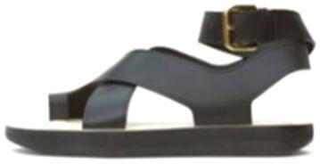 CÉLINE Black Flat Sandal