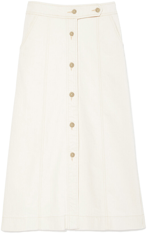 G. LABEL Ann Hazel Button-Front Skirt