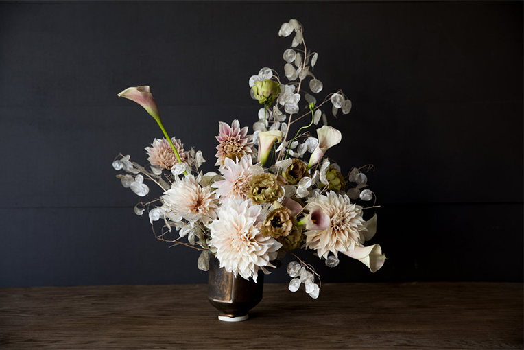 Floral arrangement in vase
