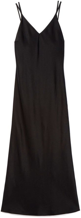 G.LABEL Black thing strap midi slip dress
