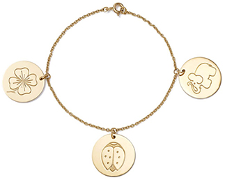AURÉLIE BIDERMANN gold charm bracelet