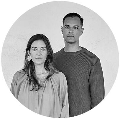 Michaele Simmering and Johannes Pauwen Black and White Headshot