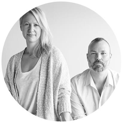 Krista Schrock and David John Dick Black and White Headshot