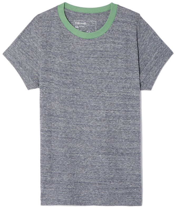 Entireworld RINGER TEE in gray