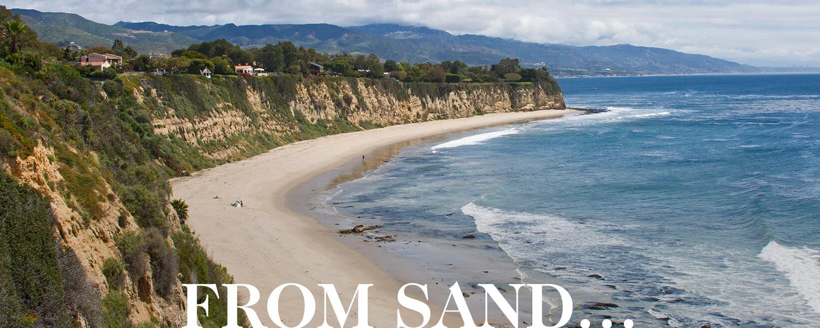FROM SAND.. hero image of sandy beach