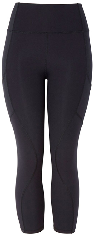 G. SPORT SEAMED CROP LEGGING, BLACK
