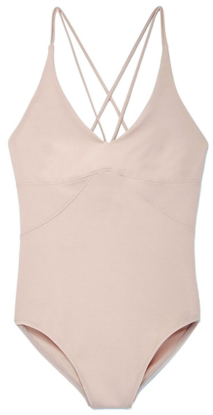 G. SPORT STRAPPY LEOTARD, BARE