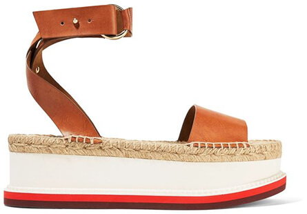 Orange and white platform SANDALS