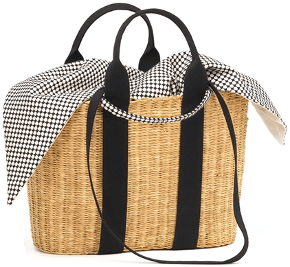 Black strap straw BAG