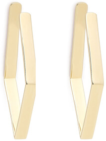 JENNIFER FISHER gold-plated hoops