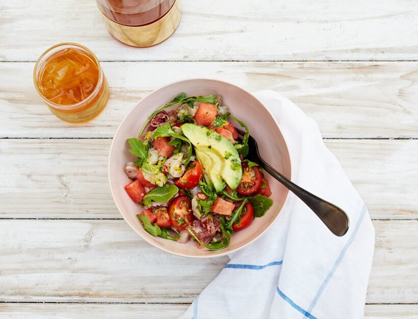 Summer Watermelon and Ceviche Salad
