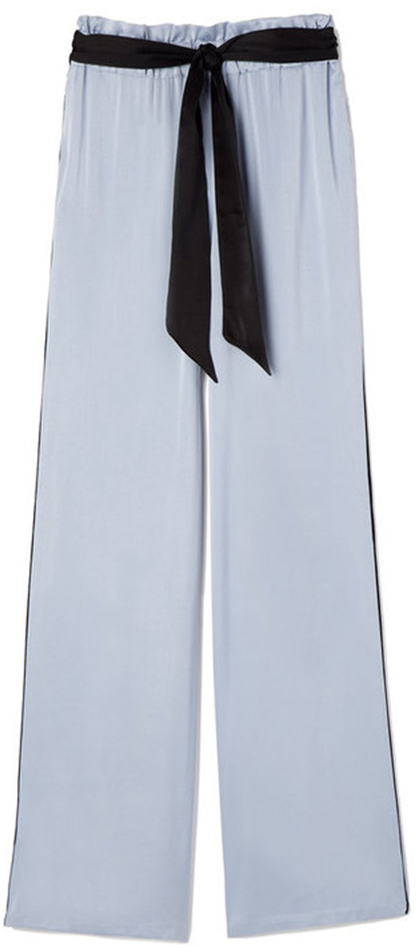 ASCENO blue and white stripe pajama pants