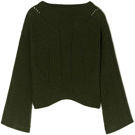 NILI LOTAN olive green sweater