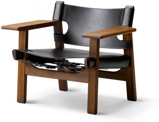 BORGE MOGENSEN black leather chair