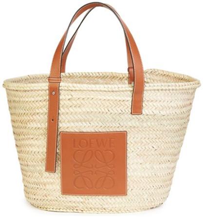 LOEWE straw basket bag