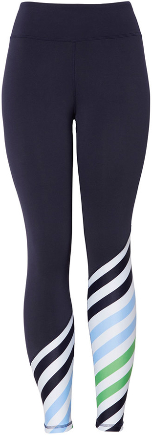 TORY SPORT navy with stripes leggings