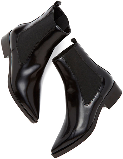 Black Leather Chelsea STELLA MCCARTNEY boots