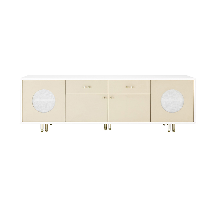Mod Leather Clad Credenza