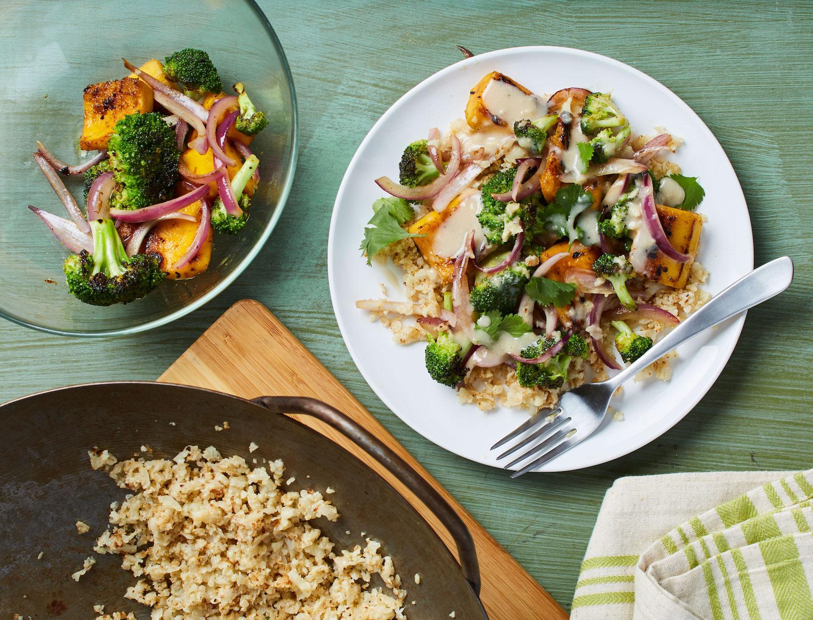 Coconut Veggie Stir-Fry with Cauliflower Rice