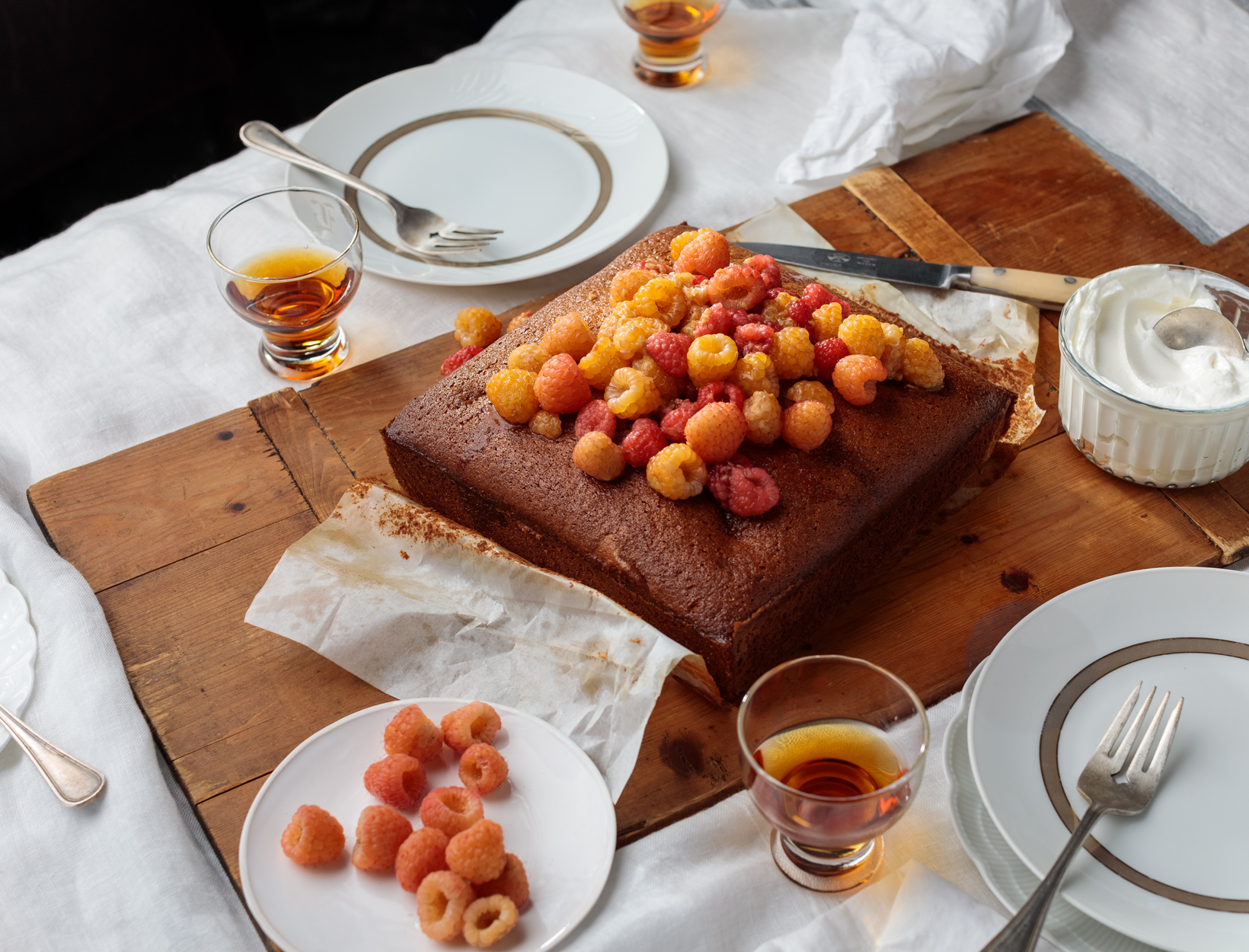Olive Oil Cake with Fresh Berries