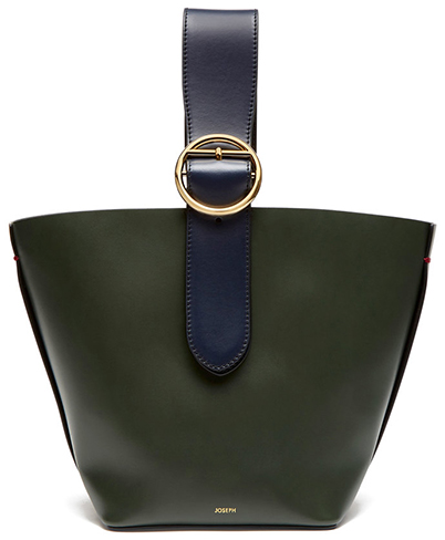 JOSEPH olive/navy handbag