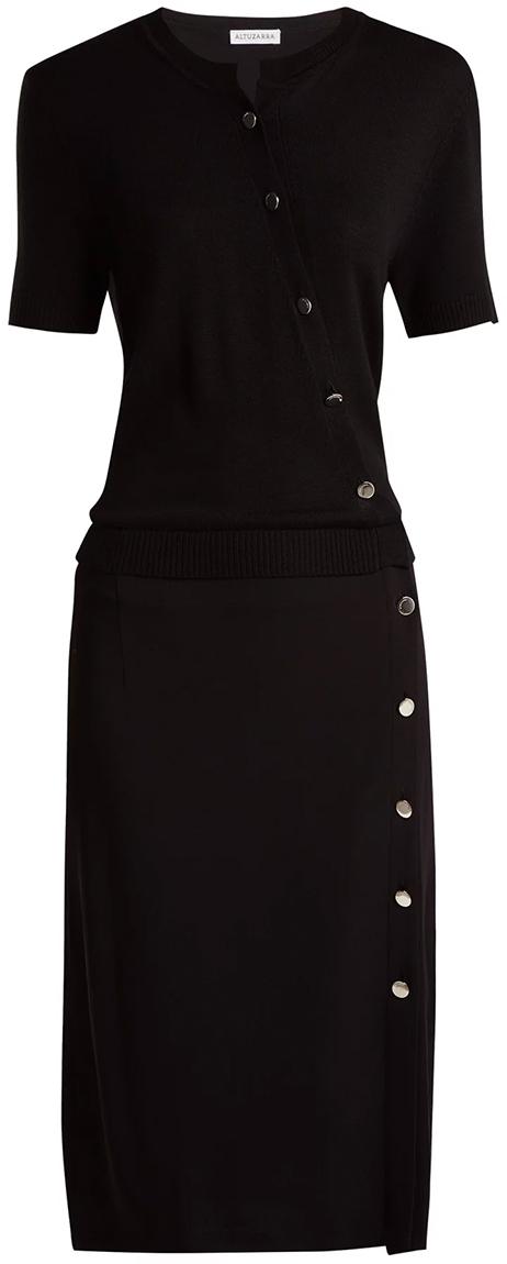 ALTUZARRA black dress with buttons