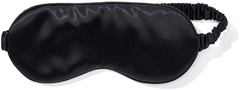 Black slip eye mask