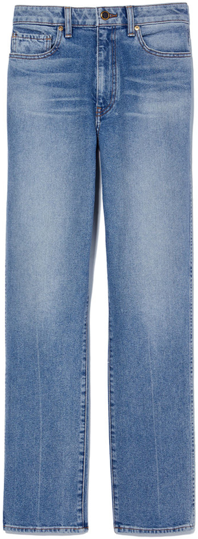 KHAITE straight leg blue jeans