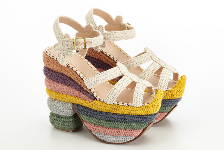 Salvatore Ferragamo Creations Rainbow Future Wedge