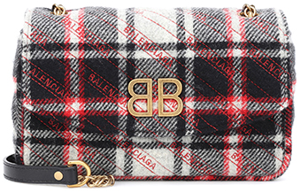 BALENCIAGA plaid bag