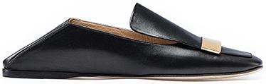 SERGIO ROSSI black flat mules