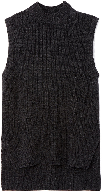REJINA PYO dark grey vest