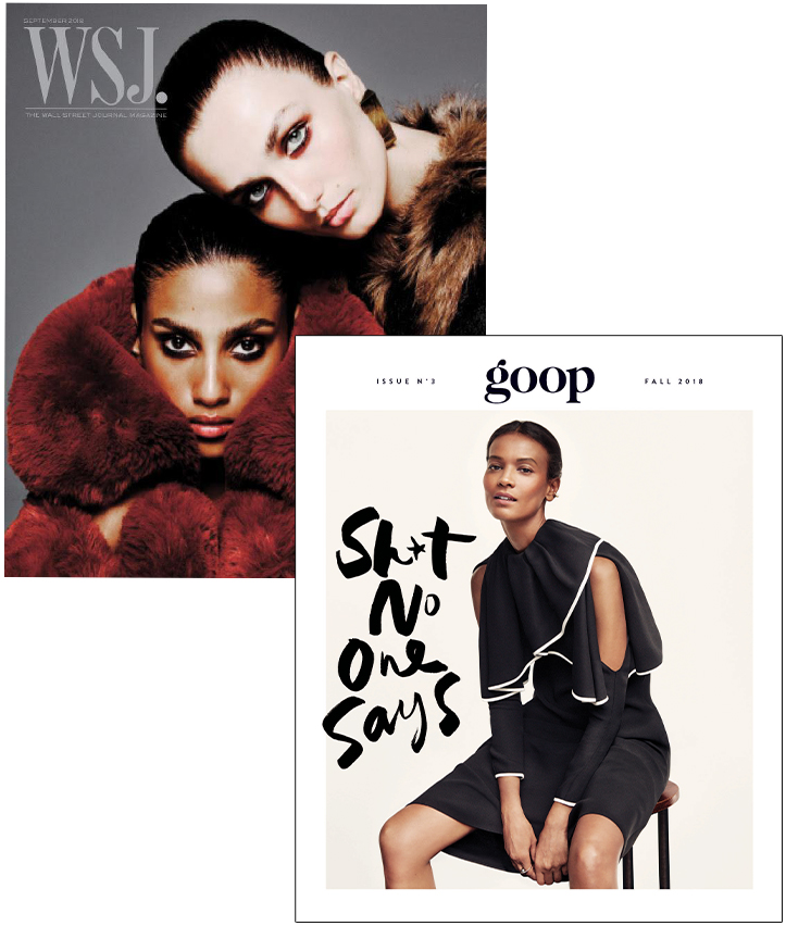 WSJ Magazine and goop Magazine
