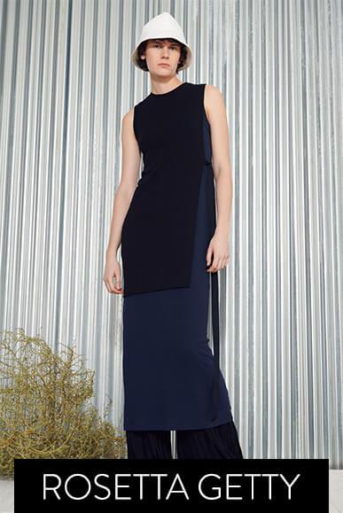 Model wearing Rosetta Getty