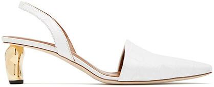 REJINA PYO white heel mule