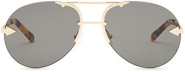 KAREN WALKER gold aviator sunglasses