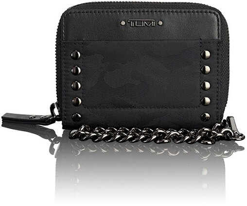 TUMI black zip around wallet