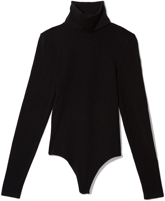 WOLFORD black turtleneck bodysuit