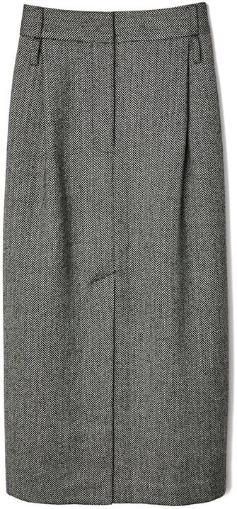 TIBI grey pencil skirt